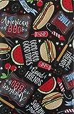 #4: Good Food Good Friends Good Times American BBQ Vinyl Flannel Back Tablecloth (60