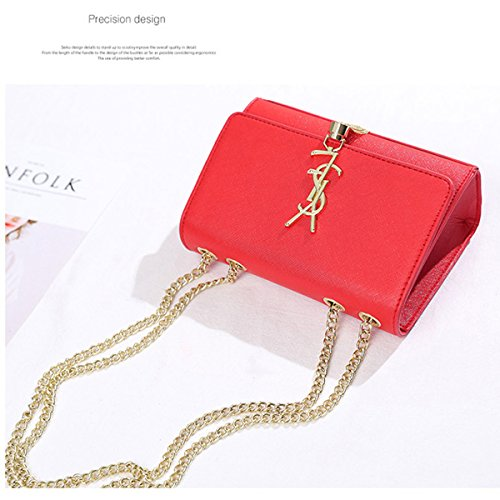Female Small Tassel Chain Mini Party Bag With Bag Package Paragraph Same Bag Star The 2018 Shoulder Fashion Messenger Red fCqdCzw