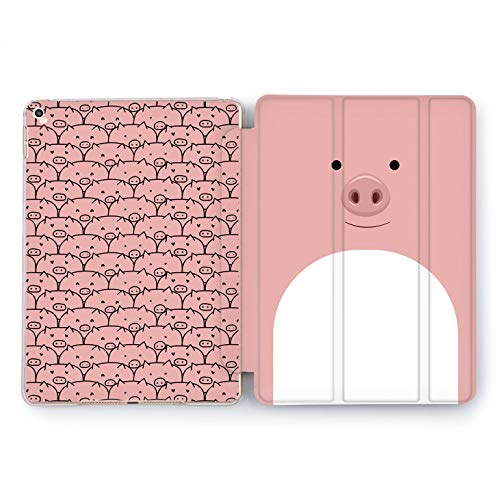 (Wonder Wild Piggy Pattern Apple iPad Pro Case 9.7 11 inch Mini 1 2 3 4 Air 2 10.5 12.9 2018 2017 Design 5th 6th Gen Clear Smart Hard Cover Animals Pig Snout Girly Cute Smiley Pork Minimalism Simple)