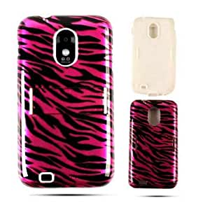 Cell Armor Samsung Epic 4G Touch Jelly Case - Carrying Case - Retail Packaging - Transparent Design Hot Pink Zebra Print by mcsharks