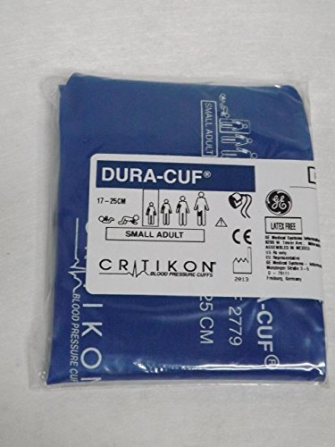 GE Healthcare 2779 Critikon Dura-Cuf Blood Pressure Cuff, 2-Tube Screw Connector, Small Adult, Royal Blue by GE (Image #2)