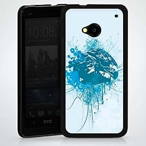Carcasa Design Funda para HTC One M7 HardCase black - Bluebird