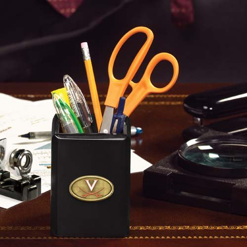NCAA The University of Virginia Official Black Pencil Holder Multicolor One Size