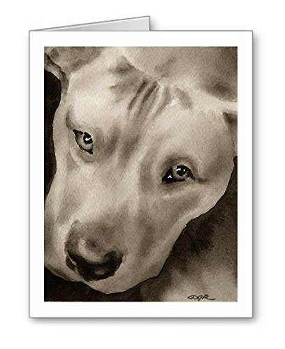 Pit Bull - Set of 10 Dog Note Cards With Envelopes ()