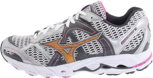 Mizuno Running Shoes. Mizuno Women's Wave Alchemy 11 Running Shoe,White/Gold/Black,9 M US. #runningshoes