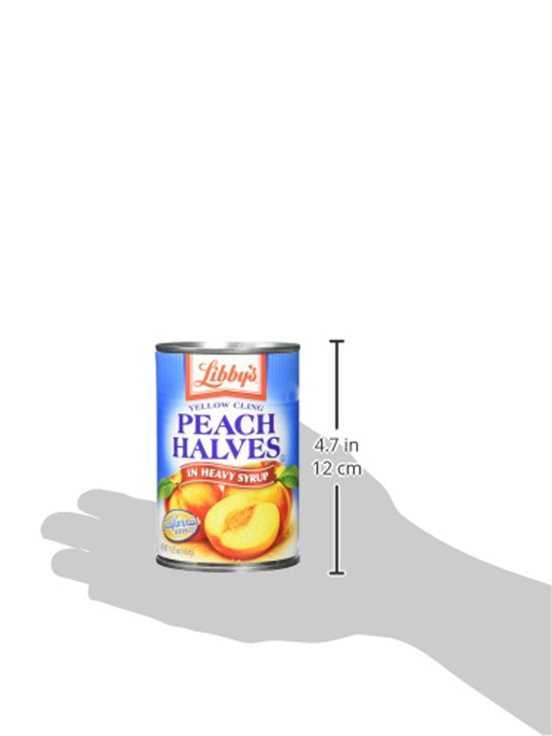 Libby's Peach Halves In Heavy Syrup, 14 Pound (Pack of 12)