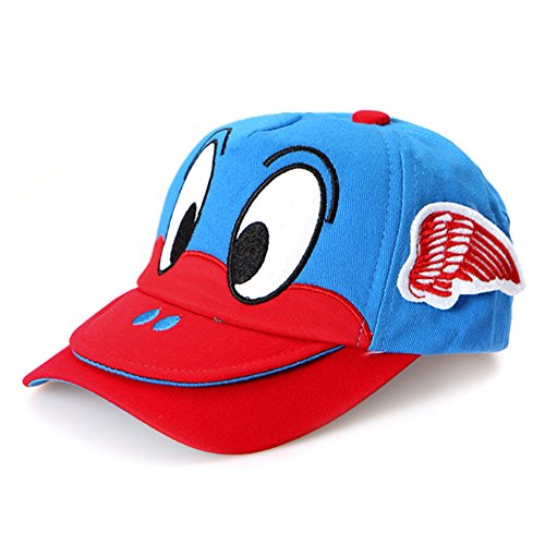 Big Bird Hat (LOCOMO Boy Girl Cute Bird Embroidery Big Eye Double Brim Mouth Cap FBH011RED)