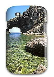 Durable Defender Case For Galaxy S3 Tpu Cover(arco Delelefante Sicily Summer Blue Nature Other)