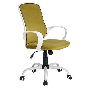 Prime Coavas Fabric Ergonomically Executive Office Desk Chairs Mesh High Back Blue Short Links Chair Design For Home Short Linksinfo