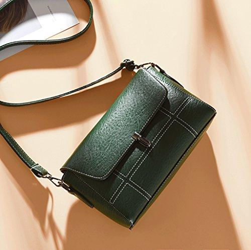 tracolla tracolla in coreana DGF Verde Messenger a di borsa Rosso Joker morbida moda a pelle semplice borsa Borsa Colore HqqfZ1