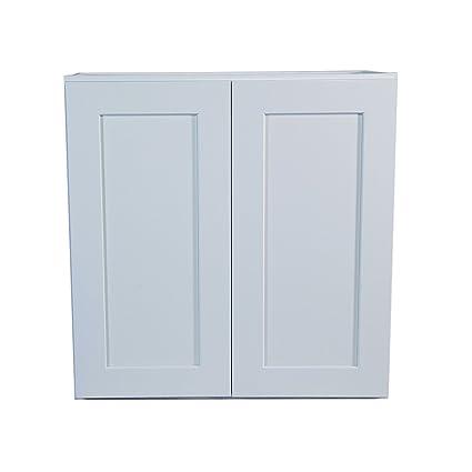 Design House 543140 Brookings Unassembled Shaker Wall 27x36x12, White RTA  Kitchen Cabinets
