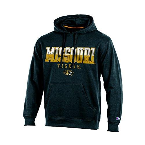 (NCAA Missouri Tigers Adult Men Pullover Hooded Fleece, Medium, Black)