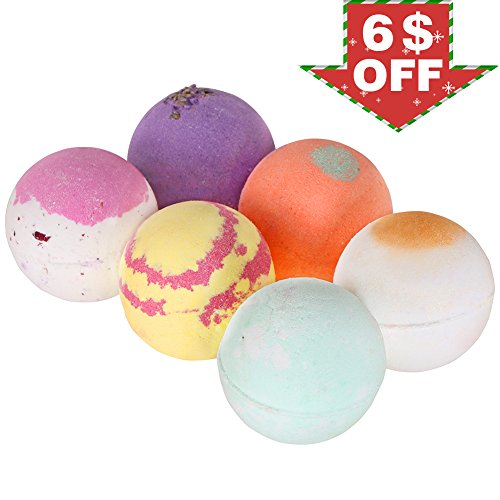 Adult Natural Bath Bomb Body Pure Essential Oil Bath Salt Blend color Fun Bath Ball Lush Spa Fizzies Rich Dry Flower 6 Pack Perfect Gift Set For Girlfriend, Boyfriend, Kids,Women, Mom