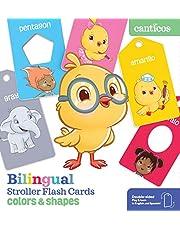 Bilingual Stroller Flash Cards: Colors & Shapes