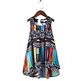 childdkivy Baby Girls Summer Dress Bohemian Fashion Clothes (16(15-16year), Bohemian-H)