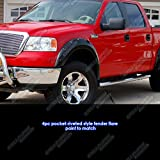 Pocket-Riveted Style ABS Black Fender Flares | 4pcs | For 2004-2008 Ford F-150; 2006-2008 Lincoln Mark LT