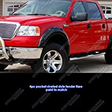 APS Reinforced ABS Fender Flares Riveted 4Pcs For 04-08 Ford F-150