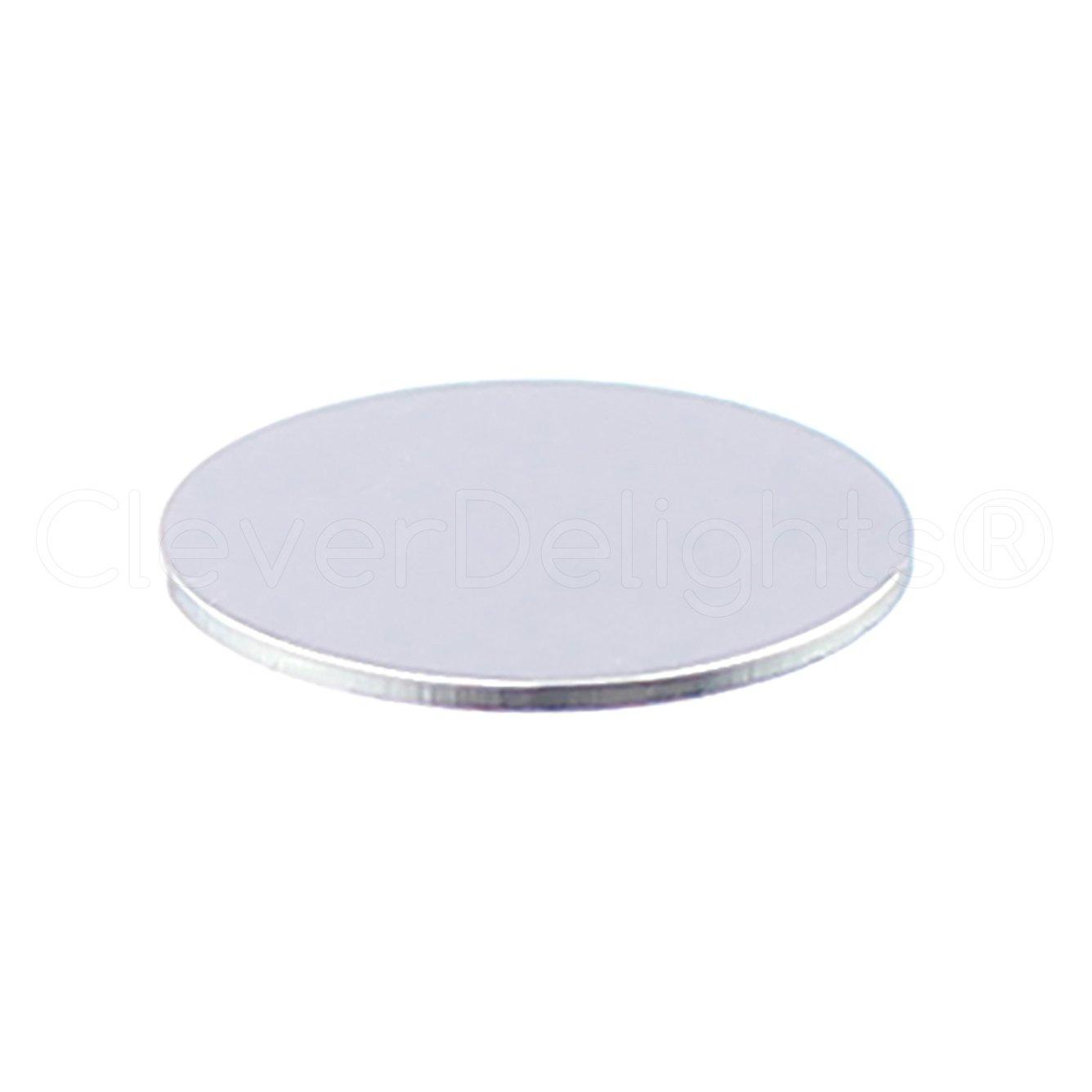 """100 Pk 20 Gauge 1/"""" Round Aluminum Stamping Blanks Shiny Anodized"""