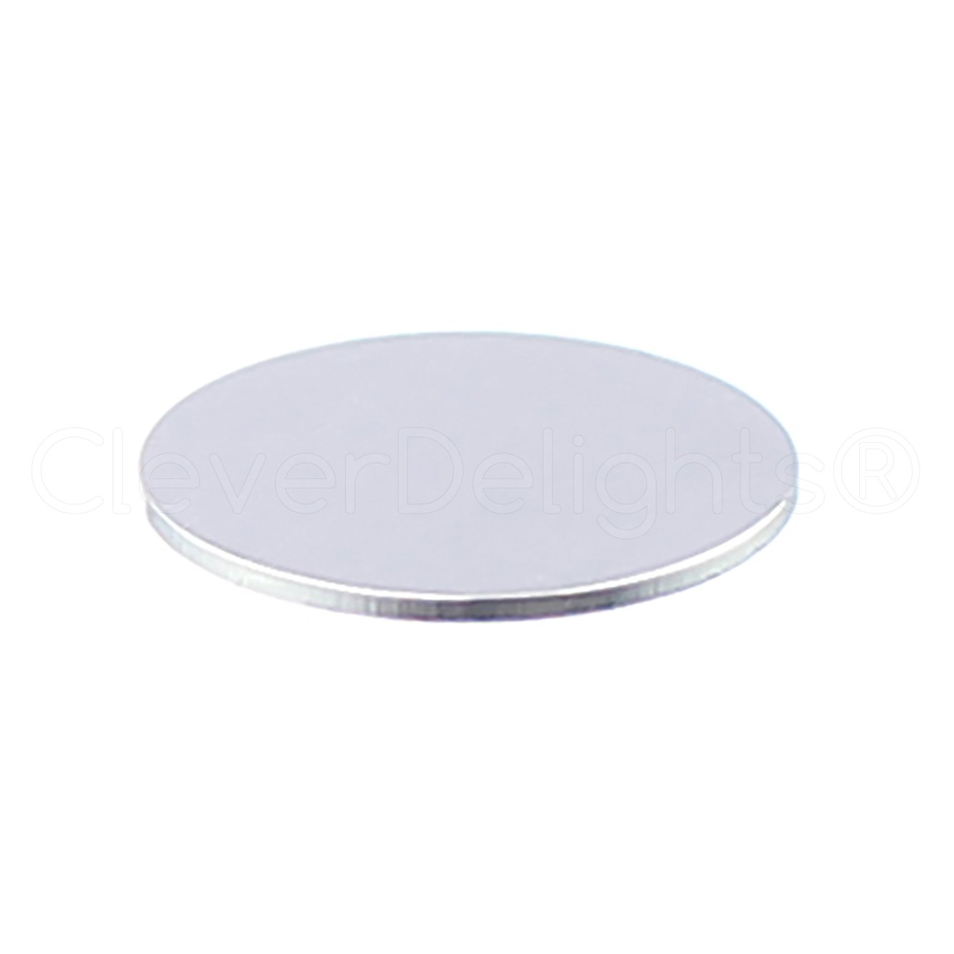 25 Pack - CleverDelights 1/2'' Round Aluminum Stamping Blanks - Shiny Anodized Finish - 22 Gauge (.025'')