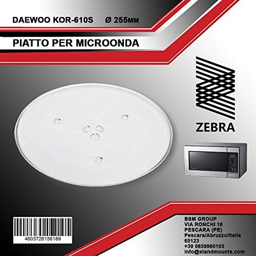 Original Microondas de plato giratorio 255 mm de diámetro Daewoo G ...