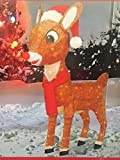 50 Year Rudolph the Red Nosed Reindeer Pre-lit Yard Art with Hat