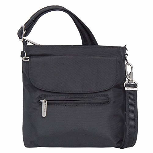 Travelon Anti-Theft Classic Mini Shoulder Bag (One Size, BLACK W/WISTERIA LINING)