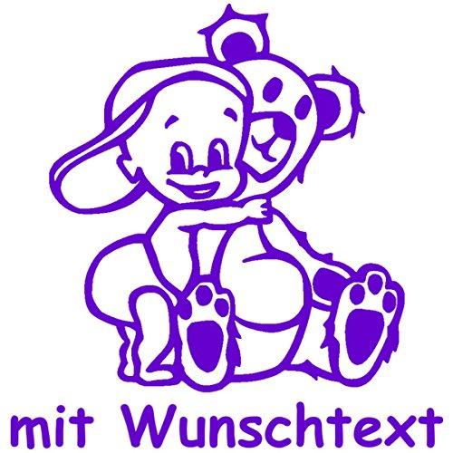 Babyaufkleber mit Name/Wunschtext - Motiv 151 (16 cm) - 20 Farben und 11 Schriftarten wä hlbar MY-BABY-SHOP