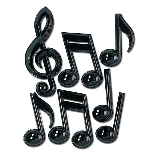 Musical Centerpiece - Shindigz Plastic Musical Notes Pack