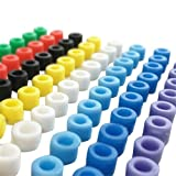 Silicone Ring,Identification Silicone Color Code Rings Marking Circle for Orthodontic Instrument 100pcs