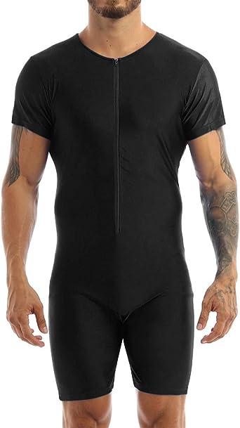 Mens One Piece Baselayer Jumpsuit Bodysuit Casual Slim Fit T Shirts Underwears