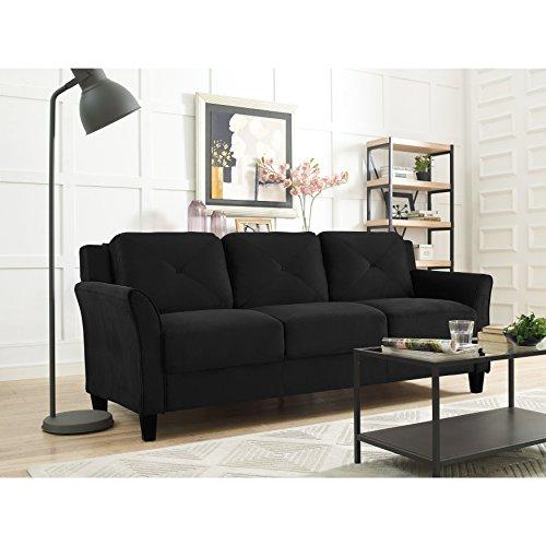LifeStyle Solutions CCHRFKS3M26BKVA Harrington Sofa in Black,
