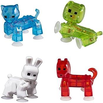 Zing Stikbot 4 x Pets : Cat, Dog, Rabbit, Bulldog