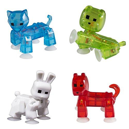 Zing Stikbot 4X Pets : Cat, Dog, Rabbit, Bulldog