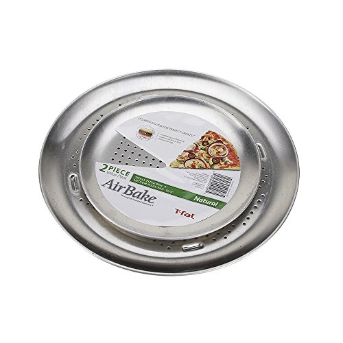 AirBake Natural 2 Pack Pizza Pan Set, 9 in and 12.75 in