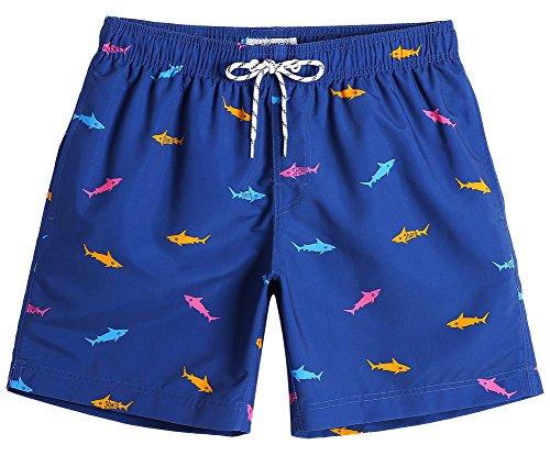 MaaMgic Mens Slim Fit Quick Dry Short Swim Trunks with Mesh Lining ()
