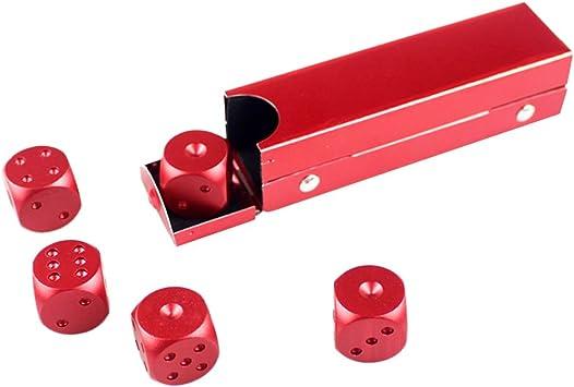MagiDeal 5X Dado Puntos de Aleación de Aluminio Accesorios para Juegos de Mesa - Rojo: Amazon.es: Juguetes y juegos