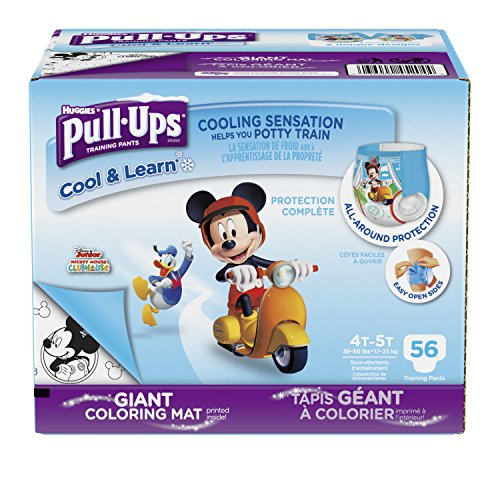 Pull-Ups Cool & Learn Training Pants for Boys, 4T-5T (38-50 lbs.), 56 Count, Toddler Potty Training Underwear, Packaging May Vary