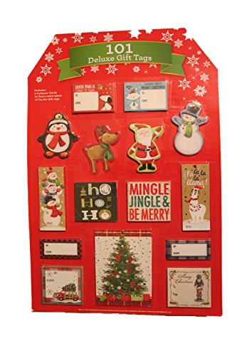 Christmas Gift Tags 101 Deluxe Gift Tags (Triple Tag)