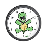 CafePress – Skuzzo Happy Turtle Wall Clock – Unique Decorative 10″ Wall Clock