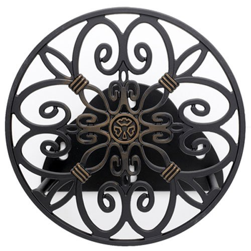 Liberty Garden Products 670 Decorative Anti-Rust Cast Aluminum Wall-Mounted Garden Hose Butler/Hanger with 125-Foot Capacity, Antique Patina Finish (Garden Hose Reel Parts compare prices)