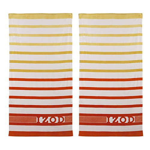 100% Cotton Ombre Stripe Beach Towel (set of 2)