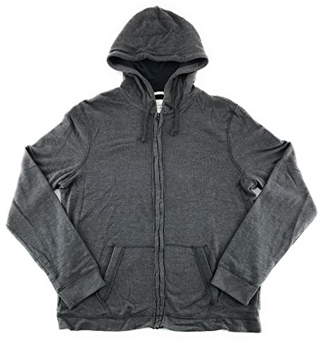 Abercrombie   Fitch Mens Full Zip Hooded Shirt Gray X Large