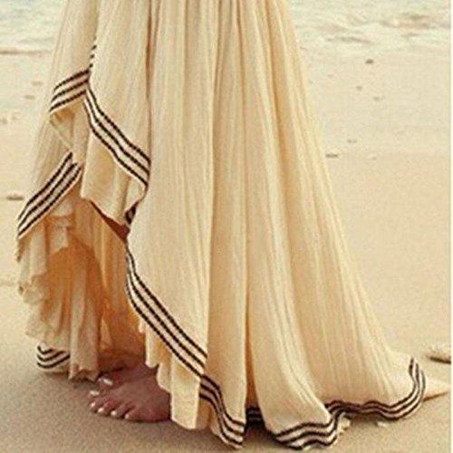 Falda irregular para mujeres, de verano. Boho. Largo maxi para fiesta en la playa de noche. Para el sol, XL: Amazon.es: Hogar