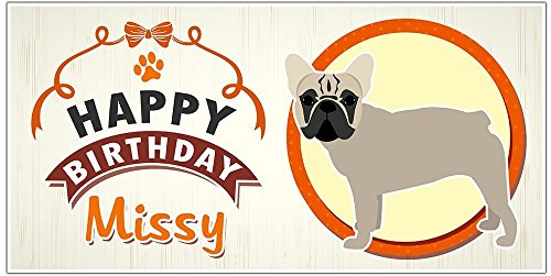 French Bulldog Puppy Party Birthday Banner Personalized Backdrop Decoration
