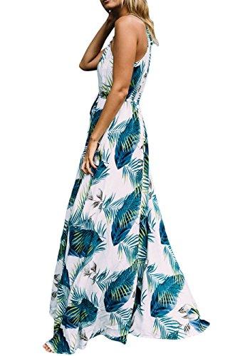 Cfanny - Vestido - Noche - Floral - Sin mangas - para mujer turquesa