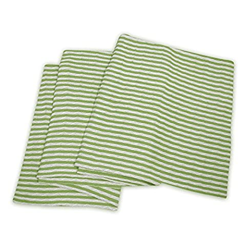 Superior 100% Cotton Thermal Blanket, Soft and Breathable Cotton for All Seasons, Bed Blanket and Oversized Throw Blanket with Woven Stripe Pattern - Twin/Twin XL Size, White & Sage - Cotton Stripe Sage