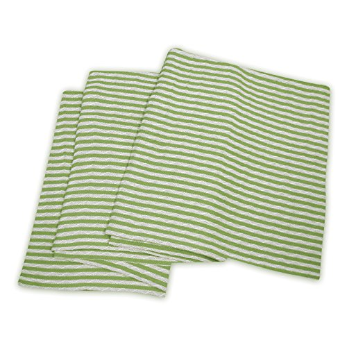 Superior 100% Cotton Thermal Blanket, Soft and Breathable Cotton for All Seasons, Bed Blanket and Oversized Throw Blanket with Woven Stripe Pattern - Twin/Twin XL Size, White & Sage Stripes