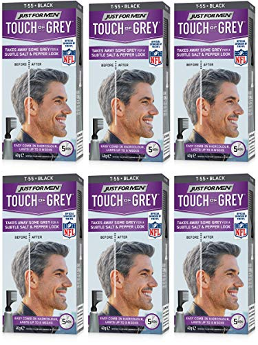 Just For Men Touch Of Gray Hair Color, Black Gray (6 Pack)