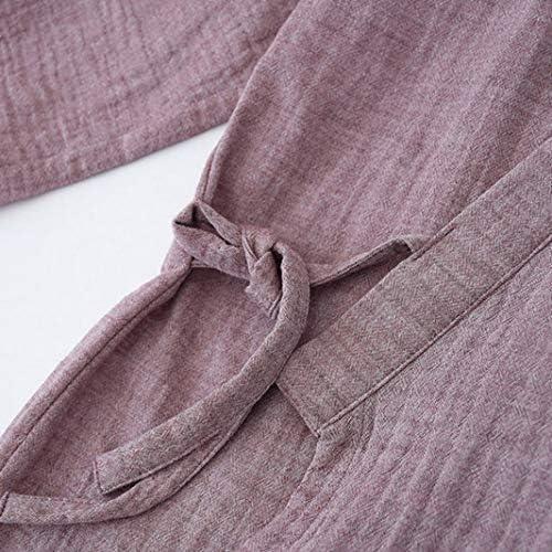 パジャマ メンズ 綿 長袖 前開き 浴衣 作務衣 無地 ルームウェア 上下セット 寝間着 快適 男性用 部屋 旅館 介護用 オールシーズン