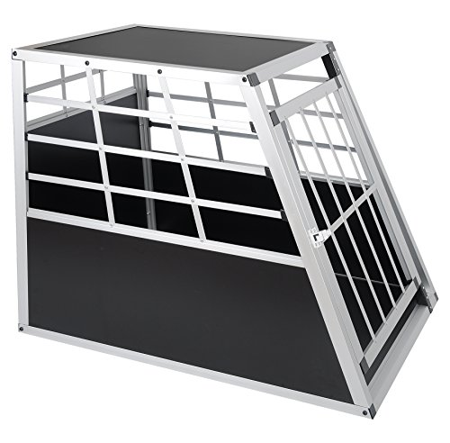 EUGAD Car Dog Cage Puppy Travel Carrier Kennel Pet Crate Transport Box Aluminum 2